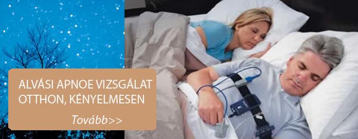 Alvási apnoe vizsgálat otthon, kényelmesen